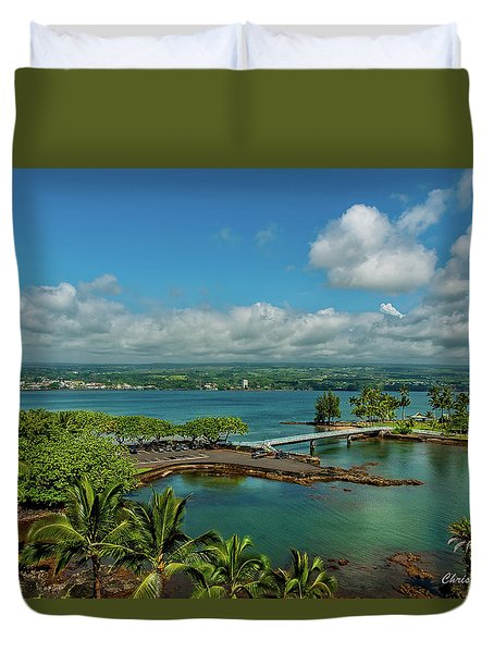 A Beautiful Day Over Hilo Bay Duvet Cover