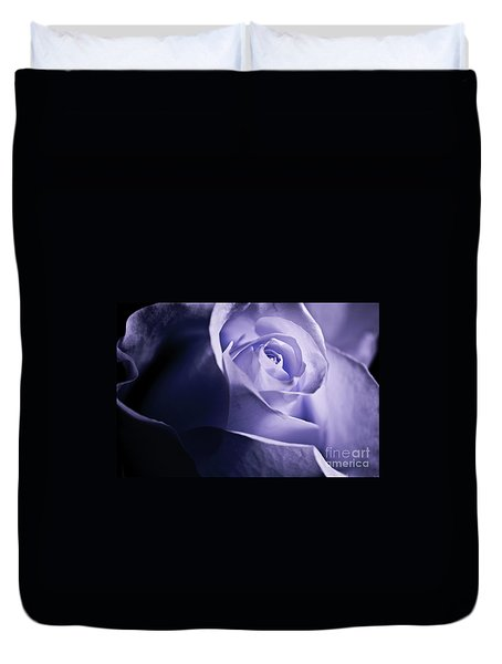 Duvet Cover featuring the photograph A Beautiful Purple Rose by Micah May