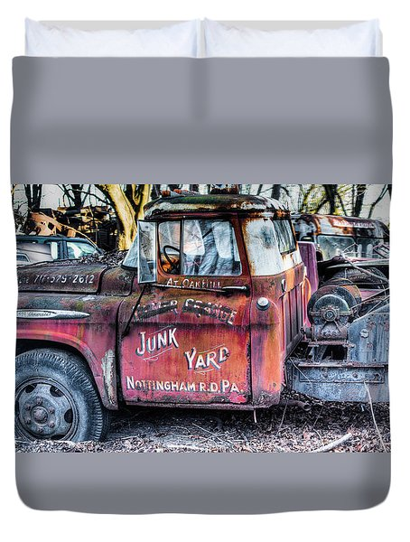 A Beautiful Rusty Old Tow Truck Duvet Cover