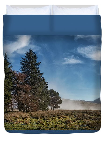 Duvet Cover featuring the photograph A Beautiful Scottish Morning by Jeremy Lavender Photography