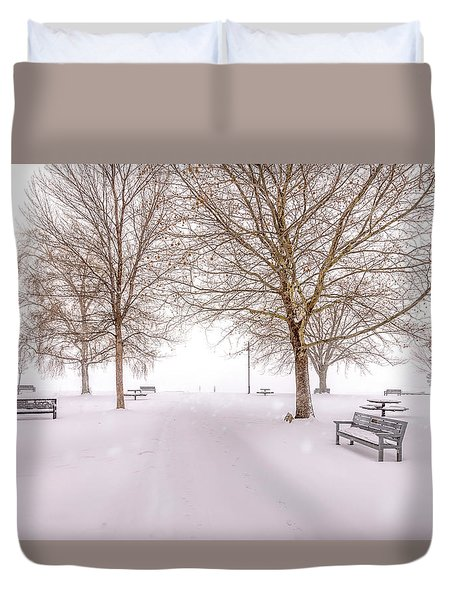 A Beautiful Winter's Morning  Duvet Cover