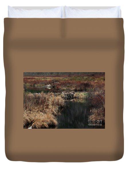 A Beaver's Work Duvet Cover by Skip Willits