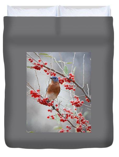 A Berry Good Morning Duvet Cover by Amy Porter