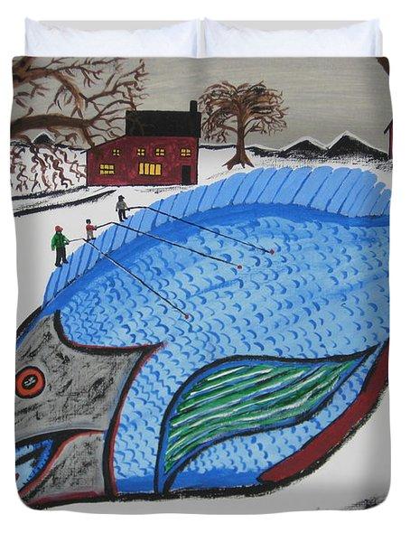 A Big Fish Tale Duvet Cover