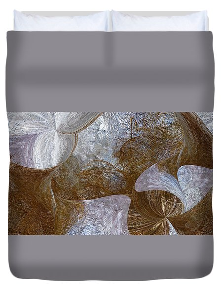 A Bird In Hand Duvet Cover by Constance Krejci