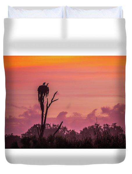 A Birdie Morning Duvet Cover