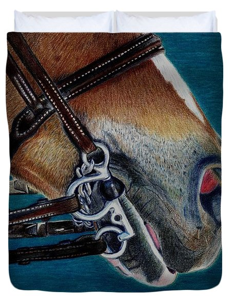 A Bit Of Control - Horse Bridle Painting Duvet Cover