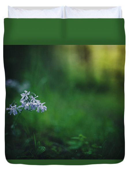 Duvet Cover featuring the photograph A Bit Of Forest Magic by Shane Holsclaw