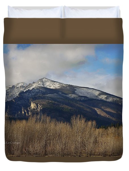 A Bitterroot View Duvet Cover