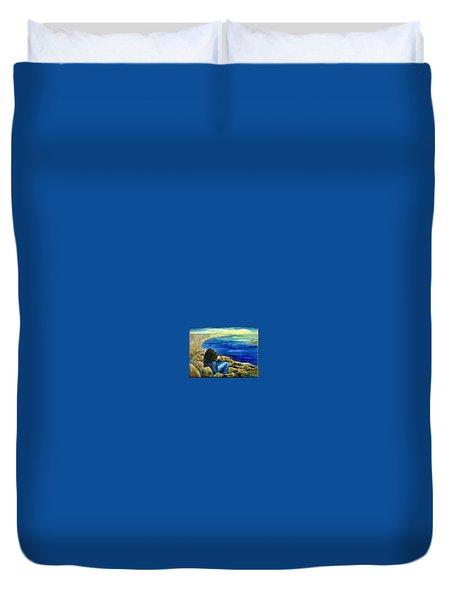 A Blue Day Duvet Cover by Gail Kirtz