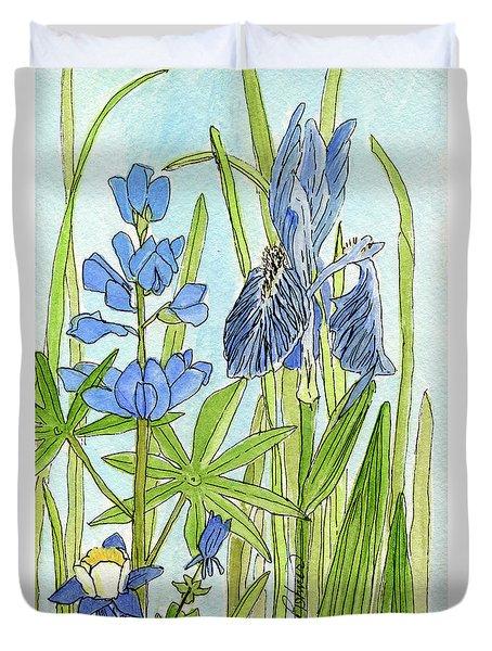 A Blue Garden Duvet Cover