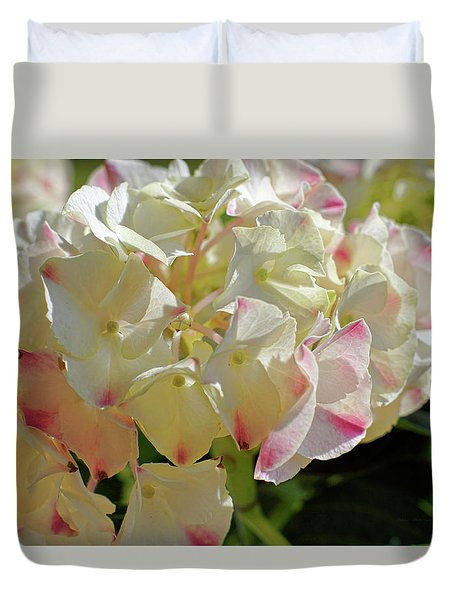 Duvet Cover featuring the photograph A Blush Of Pink by Cricket Hackmann