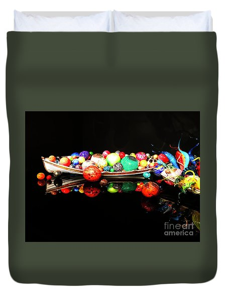 A Boatload Of Chihuli Duvet Cover