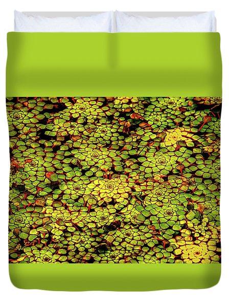 A Botanical Mosaic Duvet Cover