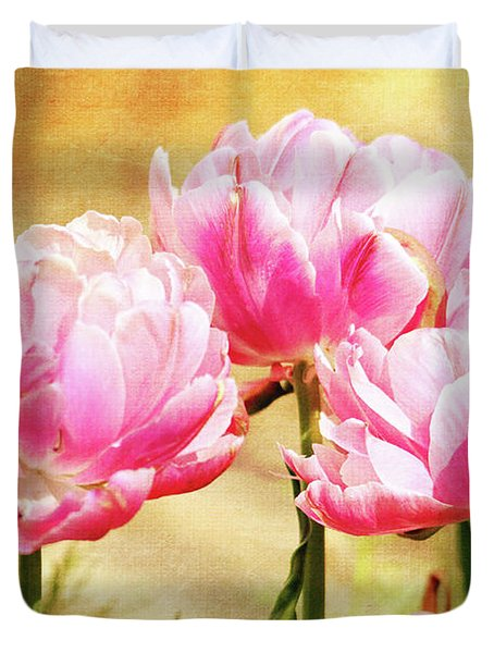 A Bouquet Of Tulips Duvet Cover