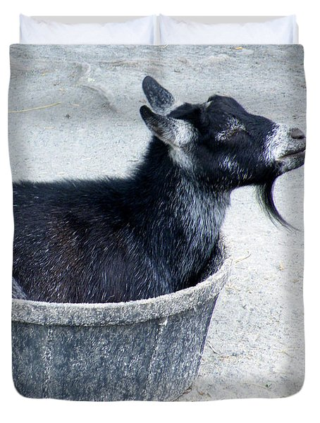 A Bowl Of Goat Duvet Cover