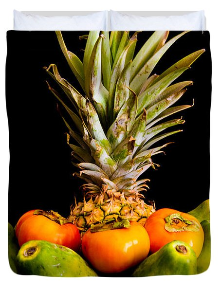 A Bowl Of Hawaiian Fruit Duvet Cover by Roger Mullenhour