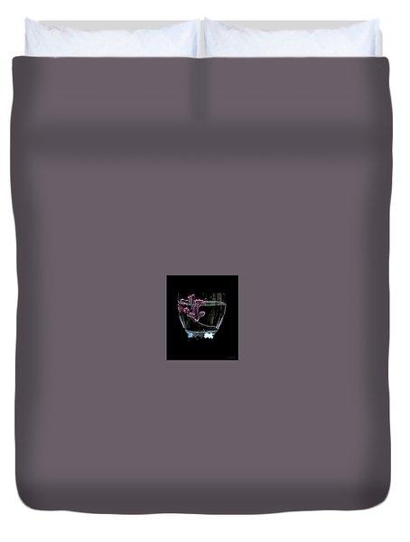 A Bowl Of Lilacs Duvet Cover