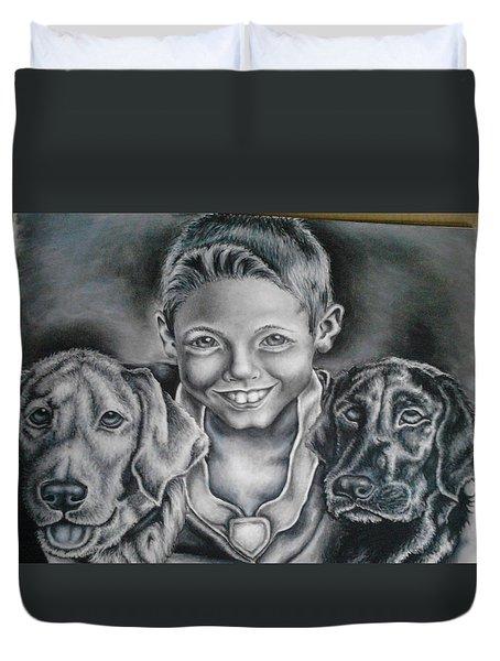A Boy's Best Friends Duvet Cover