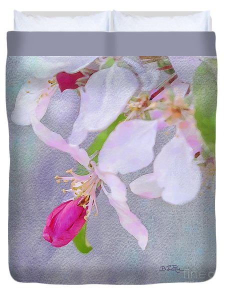 Duvet Cover featuring the photograph A Breath Of Spring by Betty LaRue