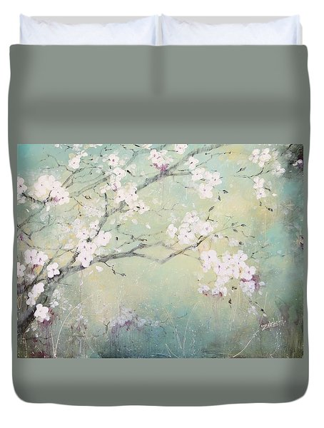 A Breath Of Spring Duvet Cover by Laura Lee Zanghetti