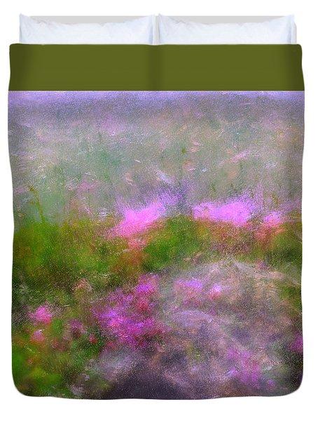A Breeze In Monet's Garden Duvet Cover