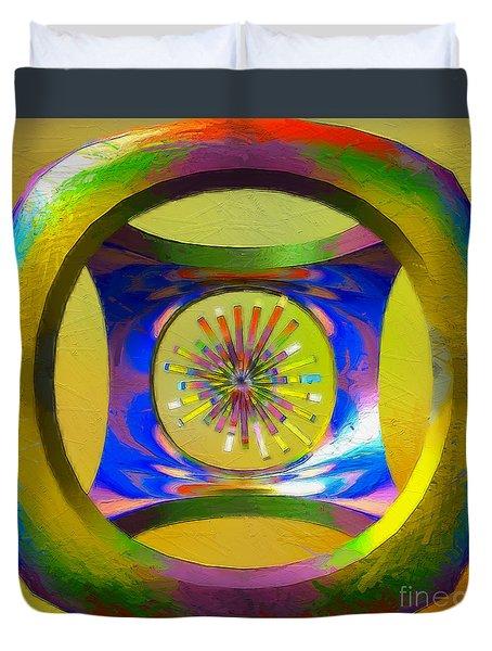 A Breezy Kaleidoscope Duvet Cover