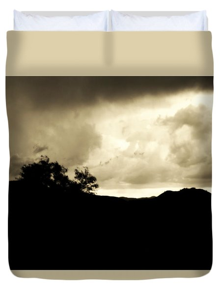 A Brewing Storm Duvet Cover by Nature Macabre Photography