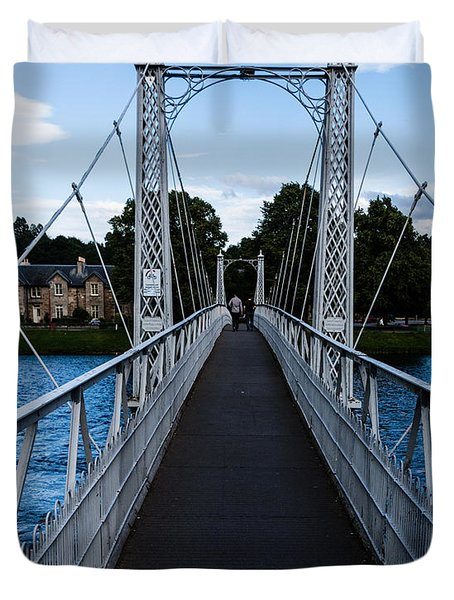 A Bridge For Walking Duvet Cover