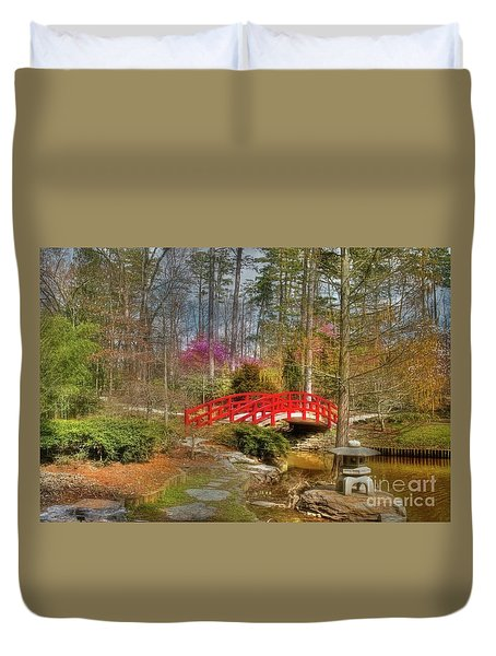 A Bridge To Spring Duvet Cover by Benanne Stiens