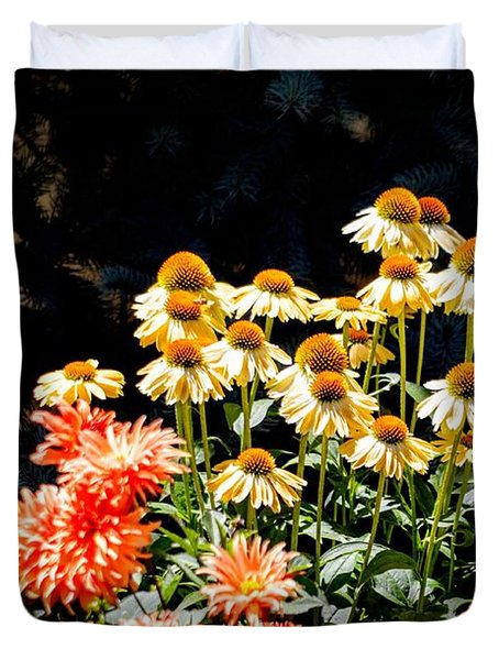 A Bright Flower Patch Duvet Cover