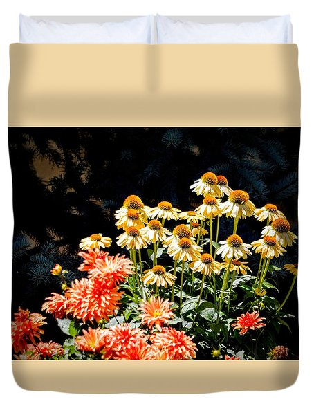 A Bright Flower Patch Duvet Cover