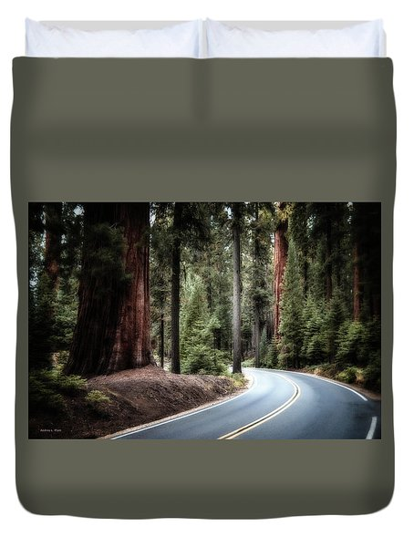 A Bright Future Around The Bend Duvet Cover