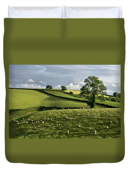 A Bucolic Evening Duvet Cover