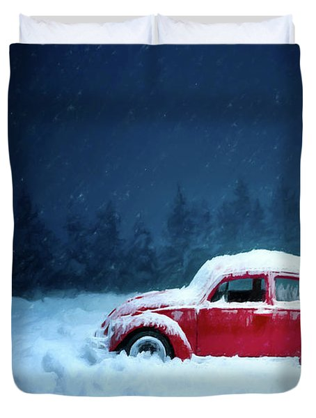 A Bug In The Snow Duvet Cover