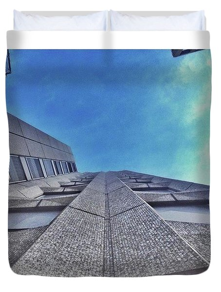 A Building At The Start Of Leman Duvet Cover