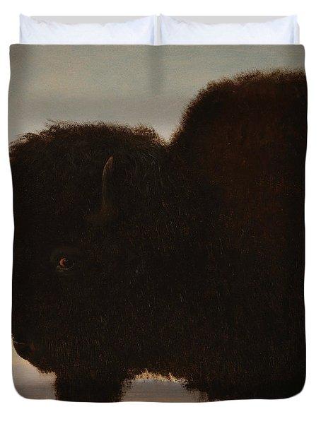 A Bull Buffalo Duvet Cover