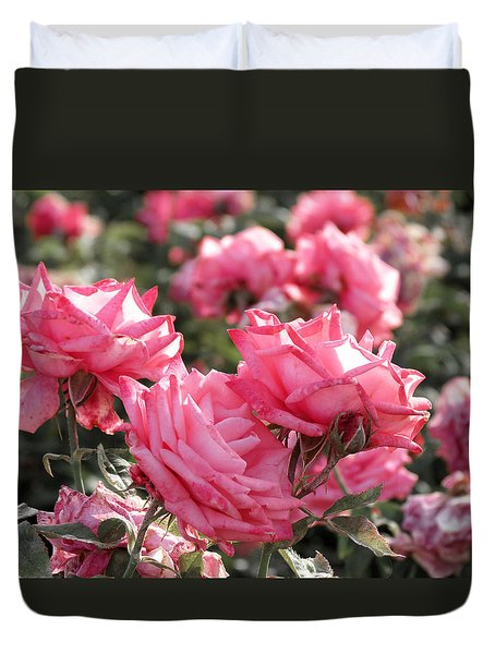 Duvet Cover featuring the photograph A Bunch Of Pink by Laurel Powell