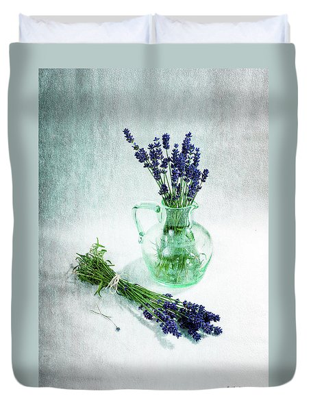 A Bundle And A Bouquet Duvet Cover