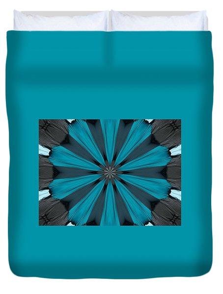 A Burst Of Blue Duvet Cover