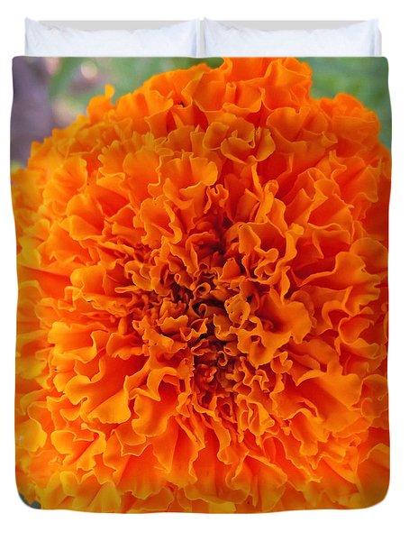 A Burst Of Orange Duvet Cover