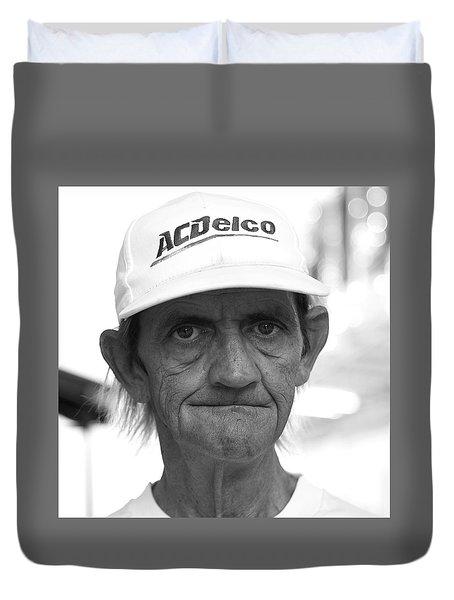 A C Delco Man Duvet Cover