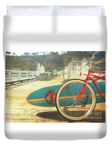 A California Postcard Duvet Cover