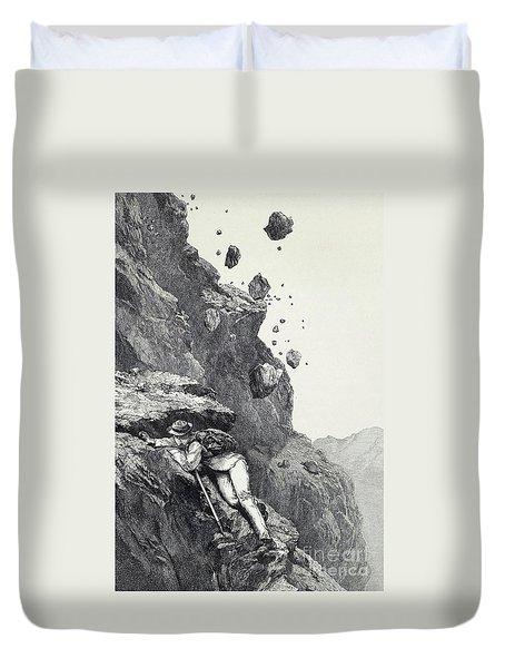 A Cannonade On The Matterhorn Duvet Cover