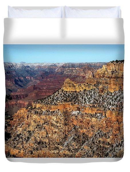 A Canyon Winter Duvet Cover