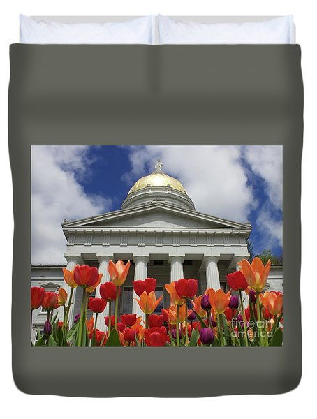 A Capitol Day Duvet Cover by Alice Mainville
