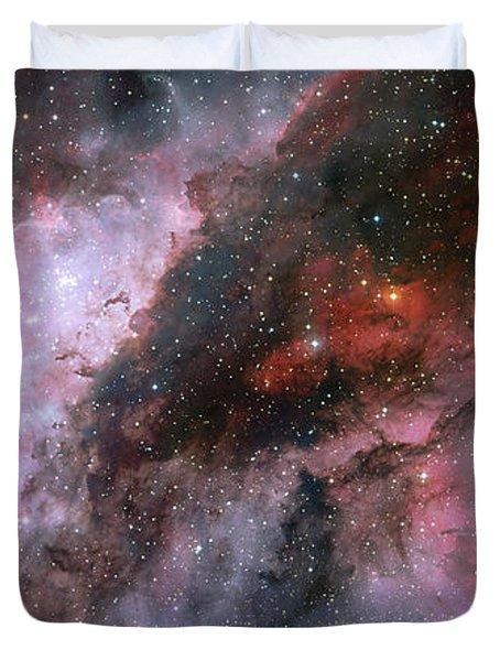 Duvet Cover featuring the photograph A Carina Nebula Pano by Nasa