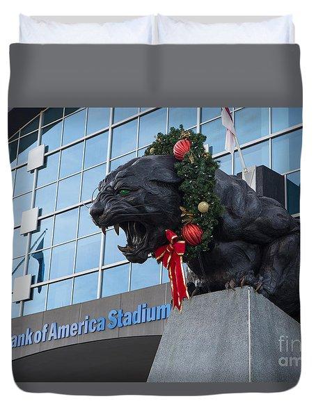A Carolina Panthers Christmas Duvet Cover