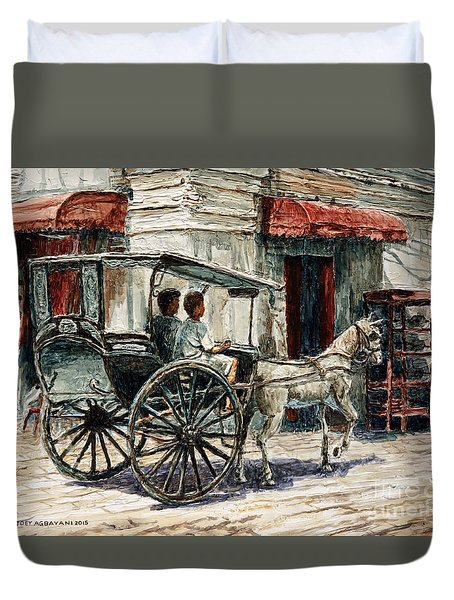 A Carriage On Crisologo Street Duvet Cover