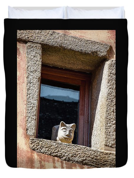 A Cat On Hot Bricks Duvet Cover